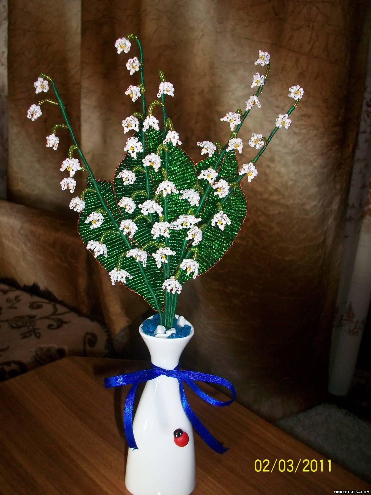 Цветы из пластиковых бутылок - лилии и ландыши: пошагово 83