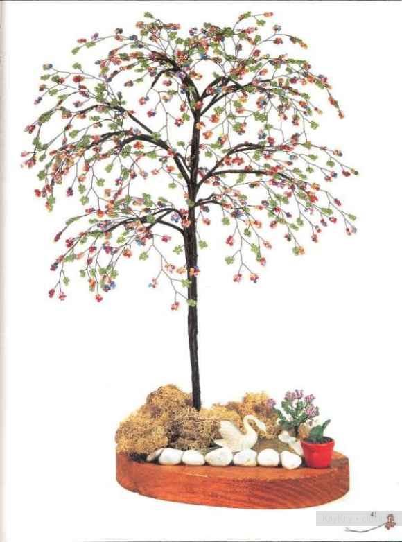 Дерево из бисера своими руками схемы плетения
