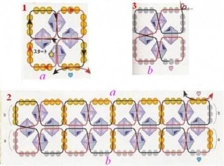 Схемы из бисера подснежник
