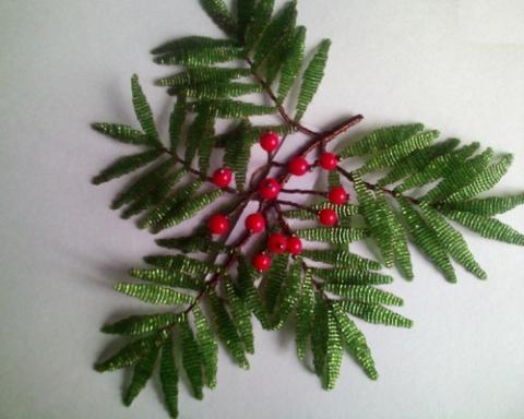 Дерево из бисера своими руками для начинающих